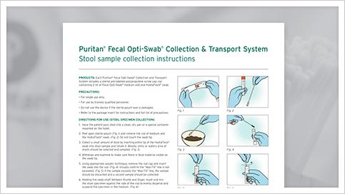 Puritan Fecal Opti Swab Stool Sample Collection How To